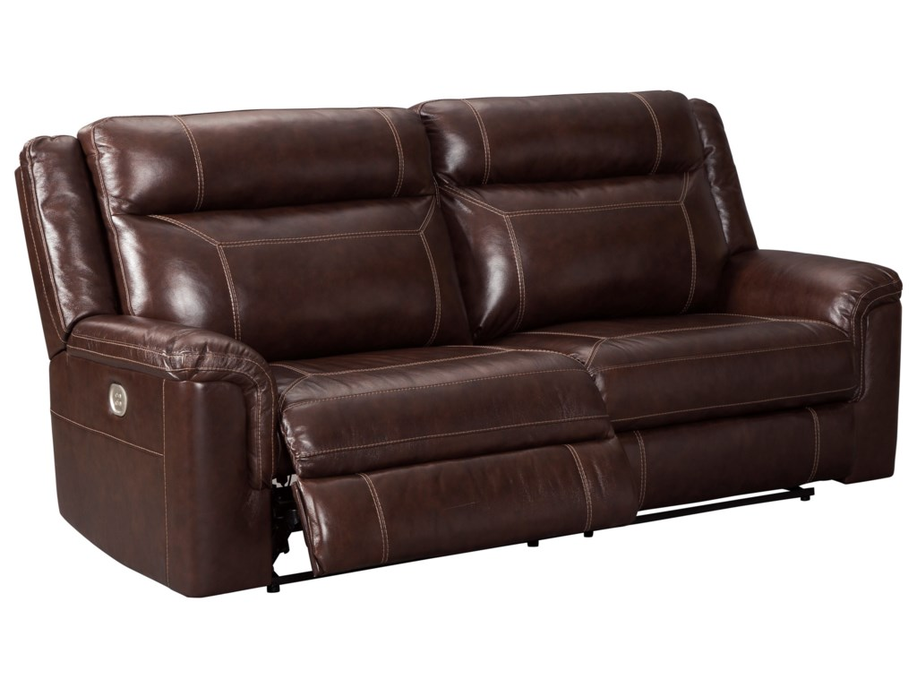 Signature Design by Ashley WylinePower Reclining Sofa w/ Adjustable Headrest