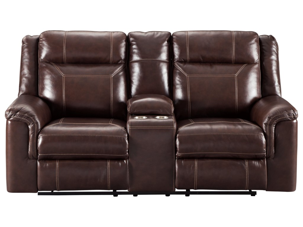 grey hover room loveseats faux loveseat the lancer product reclining living item to zoom furniture power suede brick