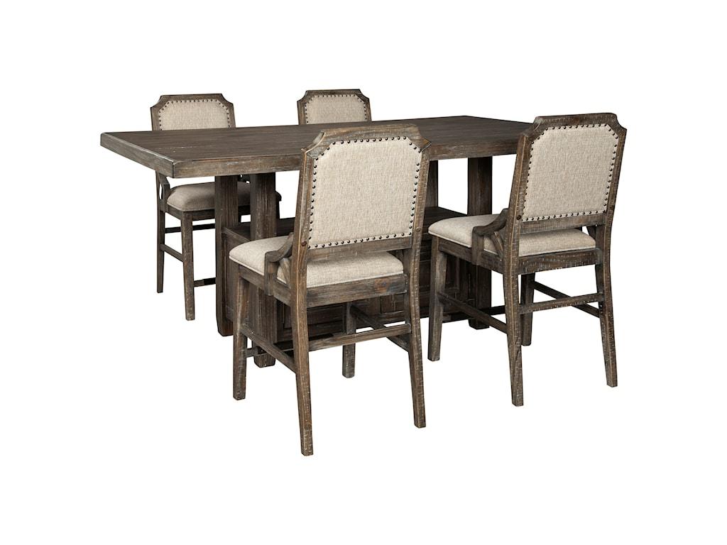 Wyndahl 5-Piece Rect. Counter Table w/ Storage Set