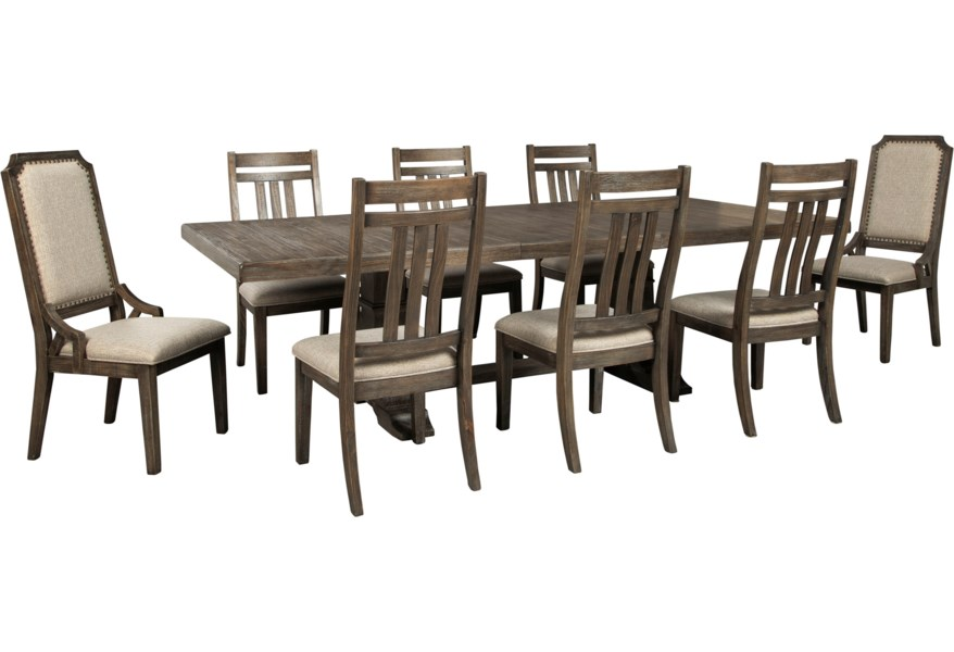 Signature Design By Ashley Wyndahl 9 Piece Dining Table Set Value City Furniture Dining 7 Or More Piece Sets