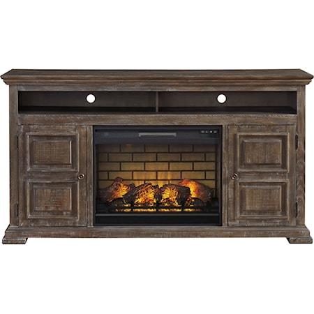 XL TV Stand w/ Fireplace