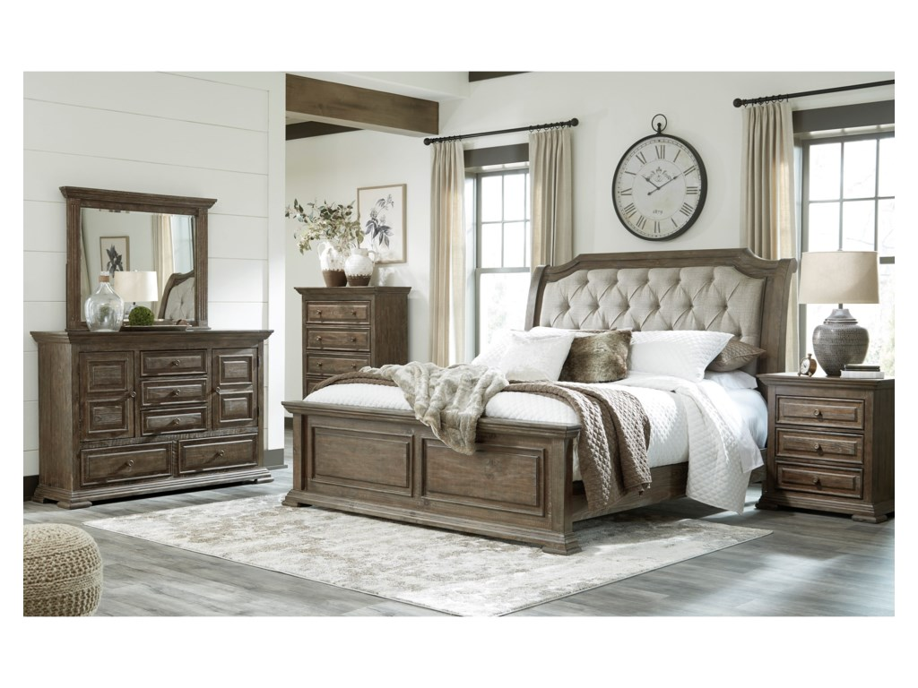 Signature Design by Ashley WyndahlQueen Upholstered Panel Bed
