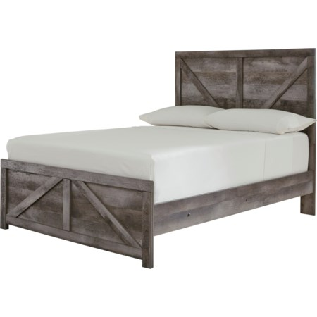 Full Crossbuck Panel Bed