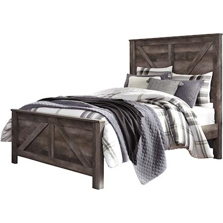 Queen Crossbuck Panel Bed