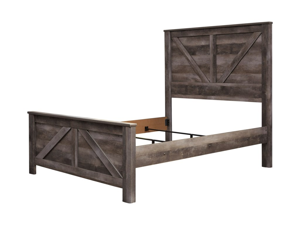 Signature Design by Ashley WynnlowQueen Crossbuck Panel Bed