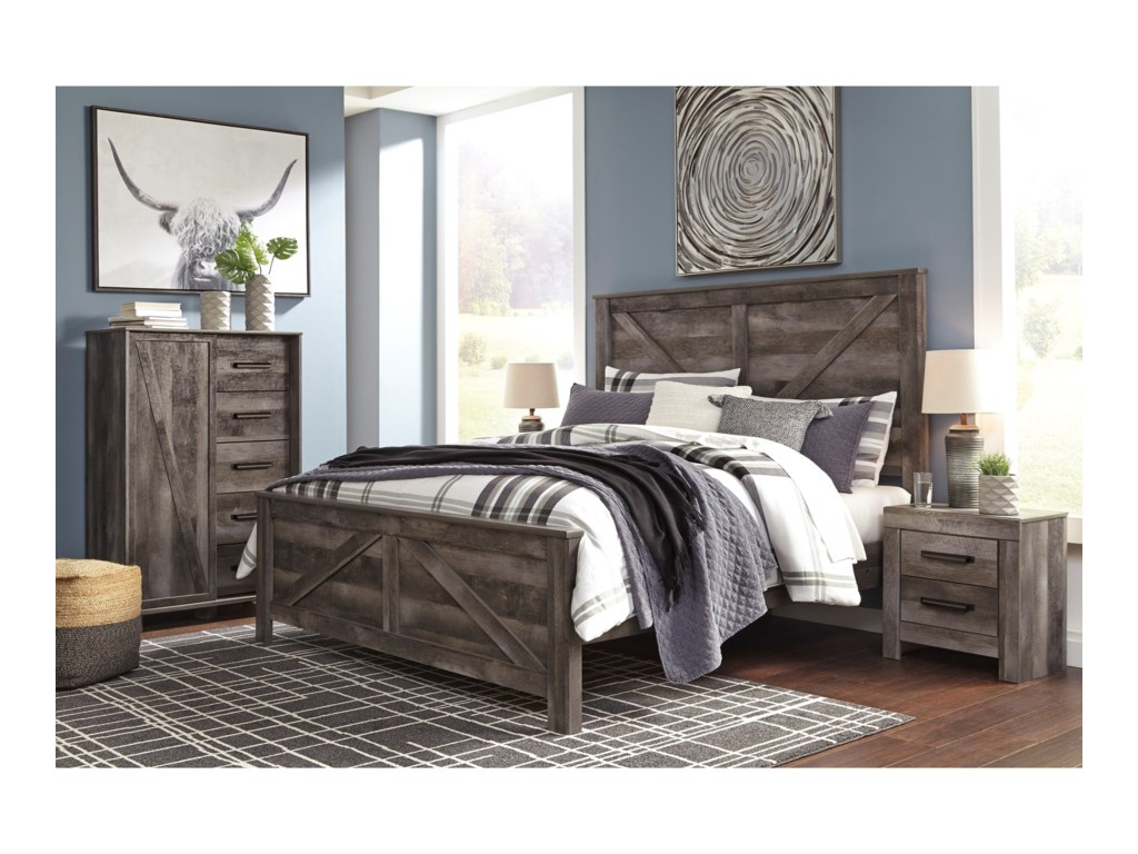 Signature Design by Ashley WynnlowKing Crossbuck Panel Bed