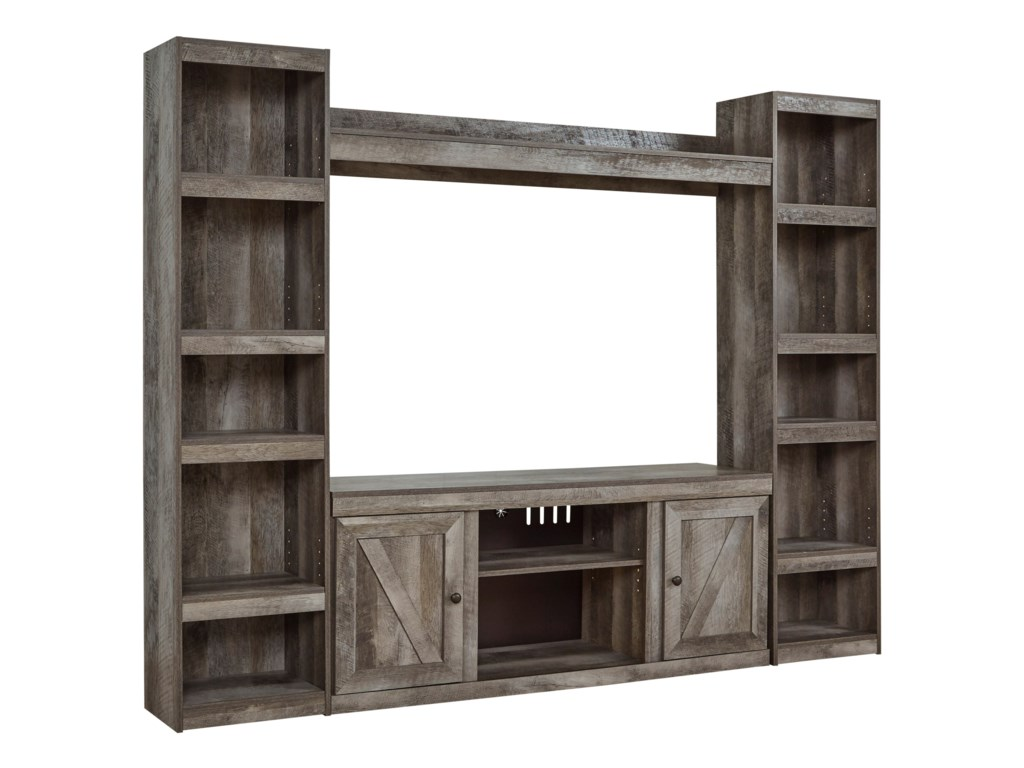 Signature Design by Ashley WynnlowLarge TV Stand w/ Piers and Bridge