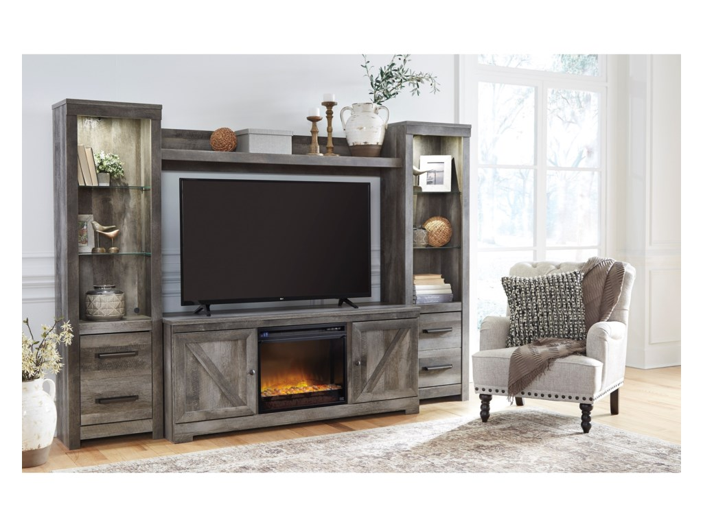 Signature Design by Ashley WynnlowWall Unit with Fireplace