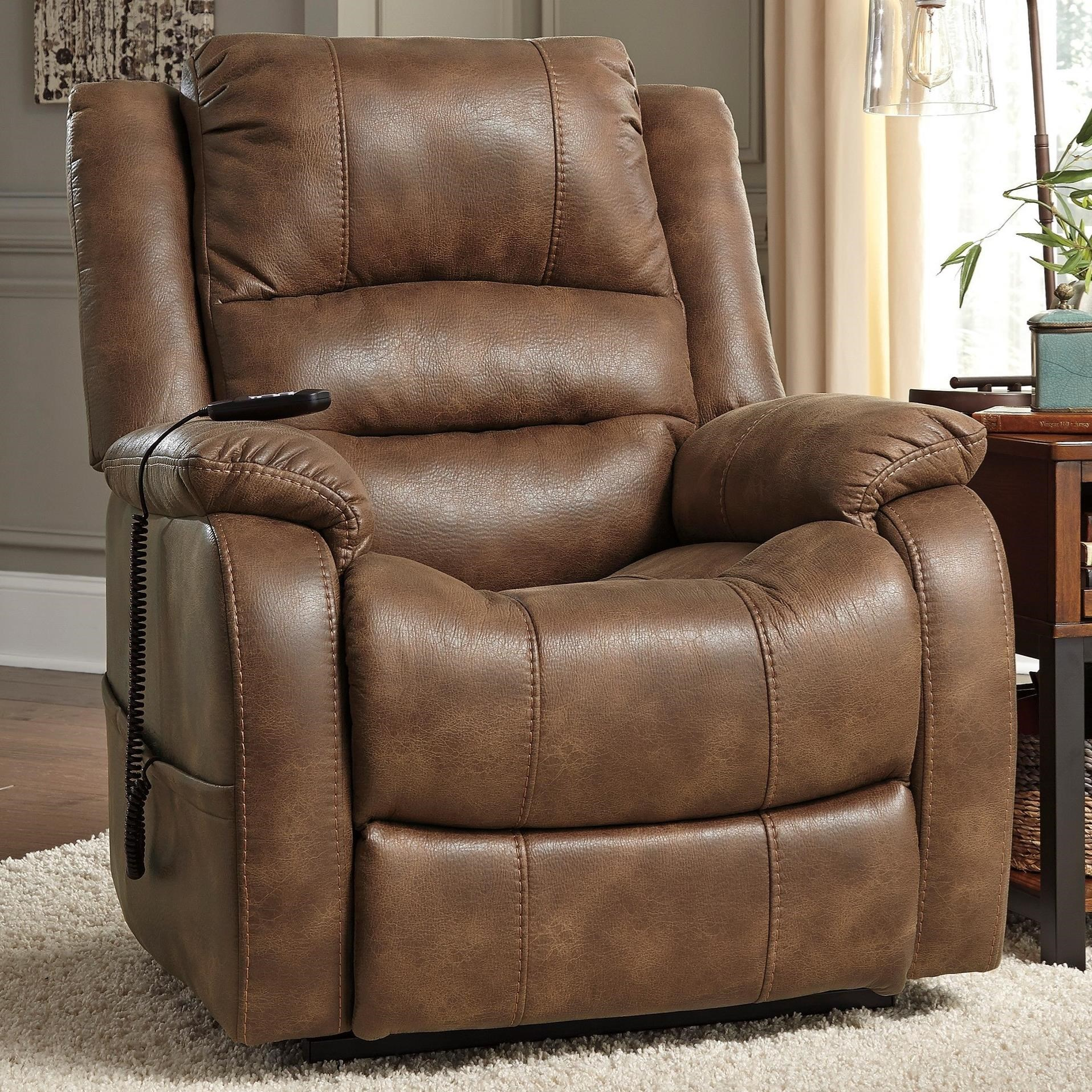 Signature Design by Ashley YandelPower Lift Recliner ...  sc 1 st  Furniture and ApplianceMart & Signature Design by Ashley Yandel 1090012 Faux Leather Power Lift ...
