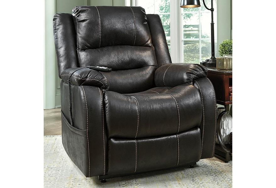 Ashley Signature Design Yandel Faux Leather Power Lift Recliner Johnny Janosik Lift Chairs