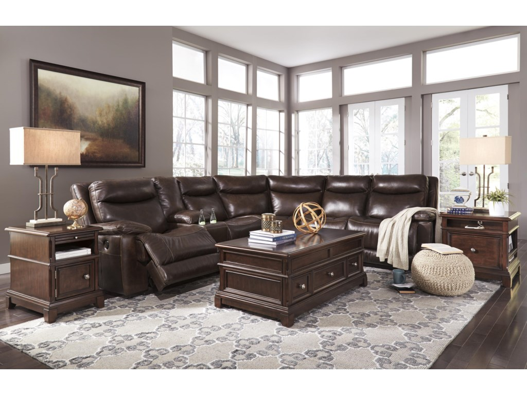 Ashley (Signature Design) ZaidenReclining Sectional with Console