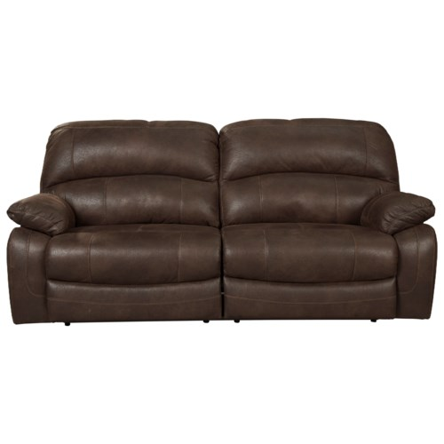 Contemporary Signature Design by Ashley Zavier 2 Seat Reclining Sofa in Brown Faux Leather New - Elegant two seat reclining sofa Fresh