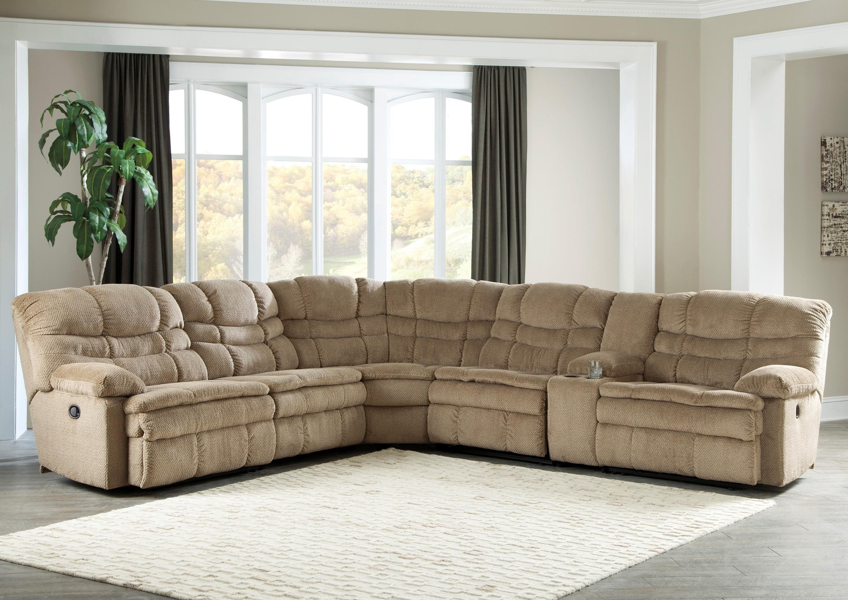 Signature Design by Ashley Zavion 6Pc Recl Sectional w/ Storage Console - Dream Home Furniture ...
