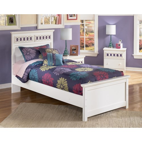 Signature Design by Ashley Zayley Twin Panel Bed with Customizable Color Panels