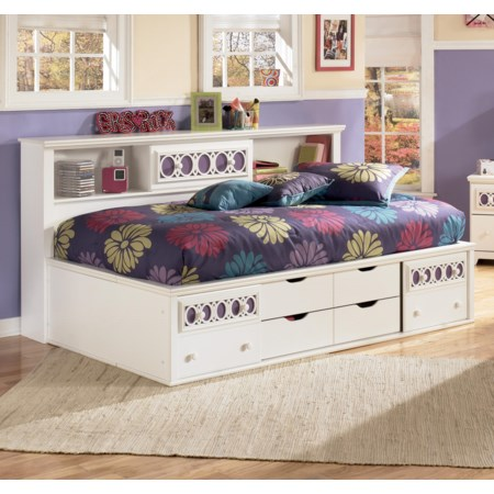 Twin Bedside Bookcase Daybed