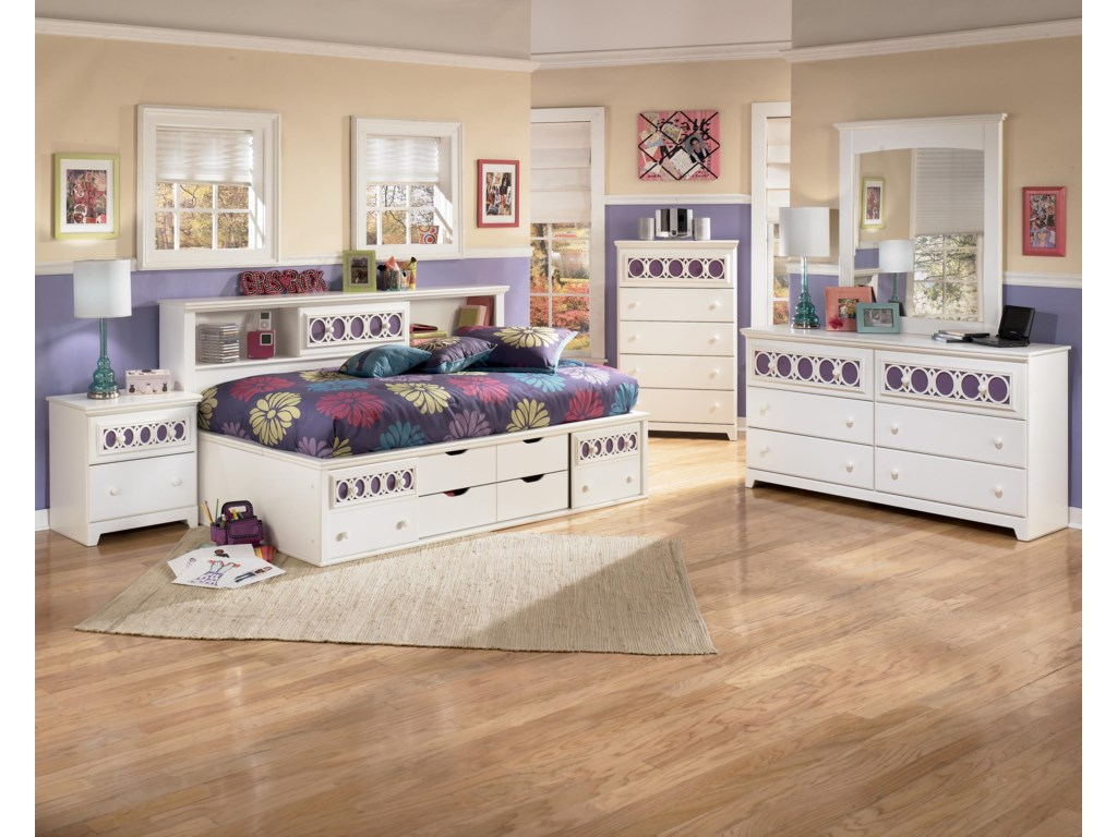 Signature Design by Ashley ZayleyTwin Bedside Bookcase Daybed