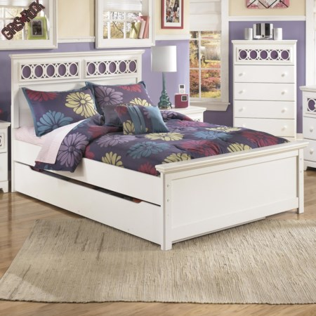 Full Platform Bed with Trundle Storage Box
