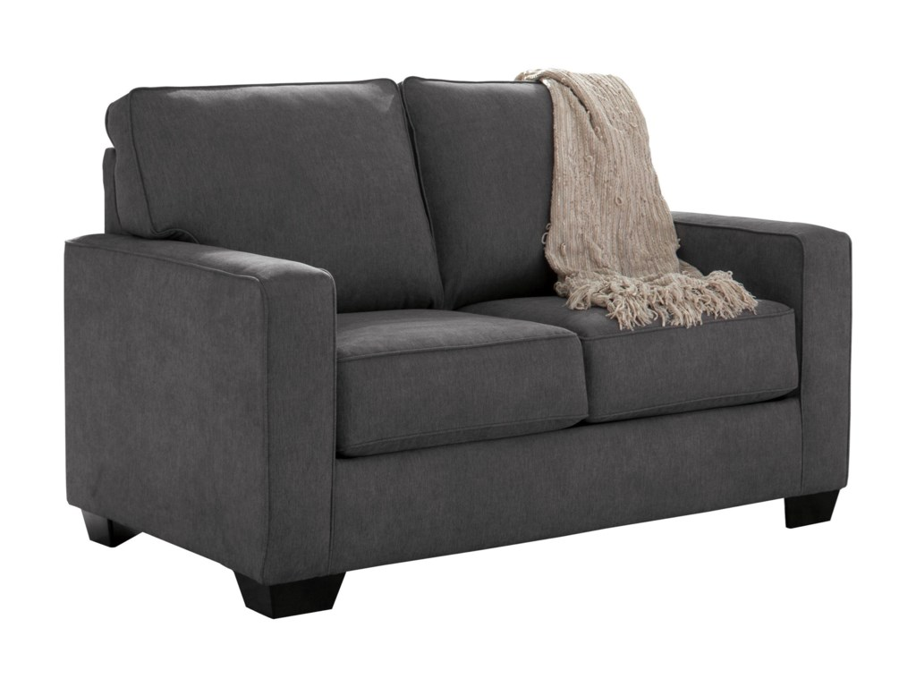 Nolana Charcoal Sofa Loveseat Refil Sofa