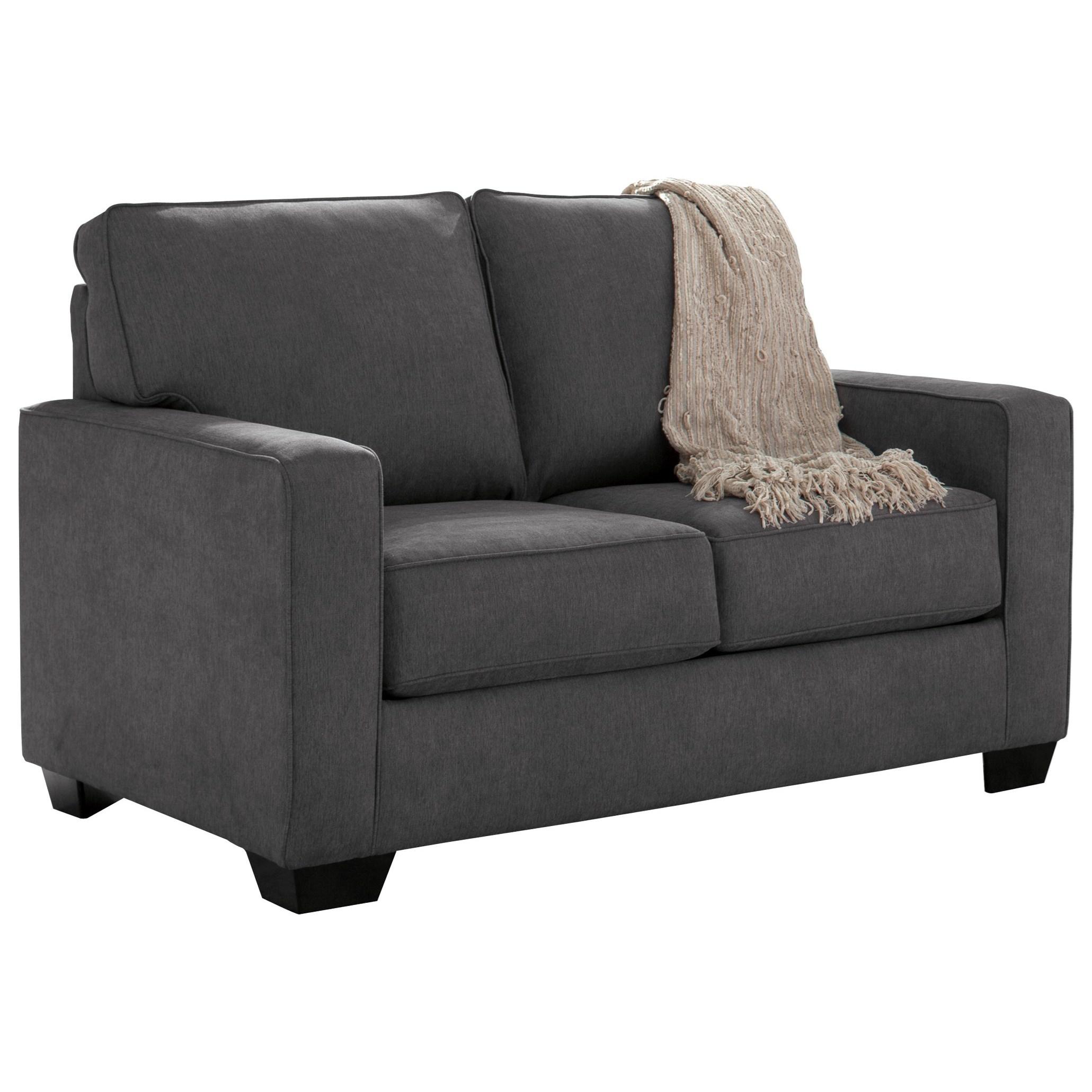 Signature Design By Ashley Zeb Twin Sofa Sleeper With Memory Foam Mattress