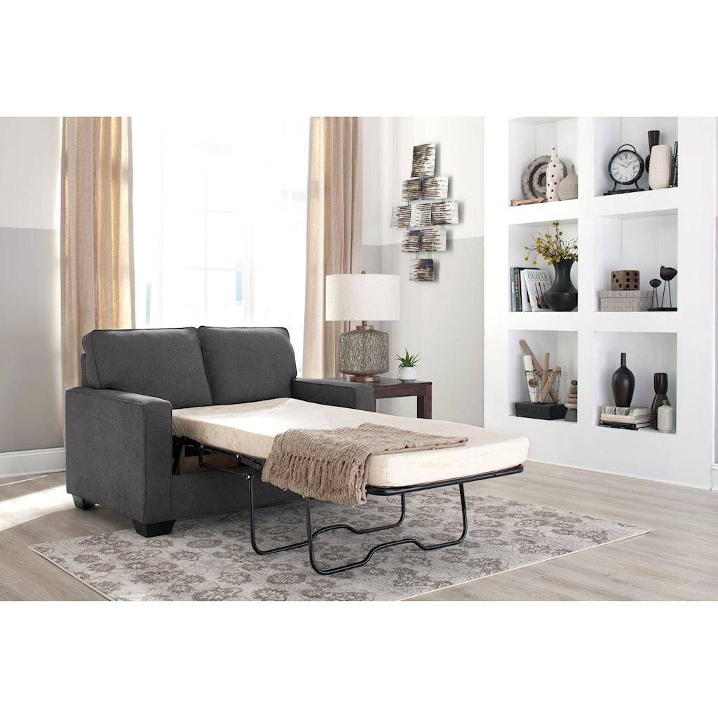 Signature Design by Ashley Zeb Twin Sofa Sleeper with Memory Foam