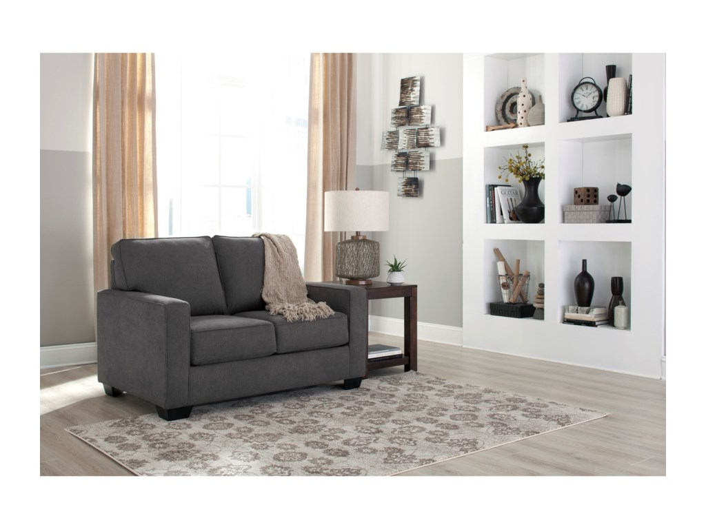 Signature Design by Ashley Zeb 3590137 Twin Sofa Sleeper with Memory ...