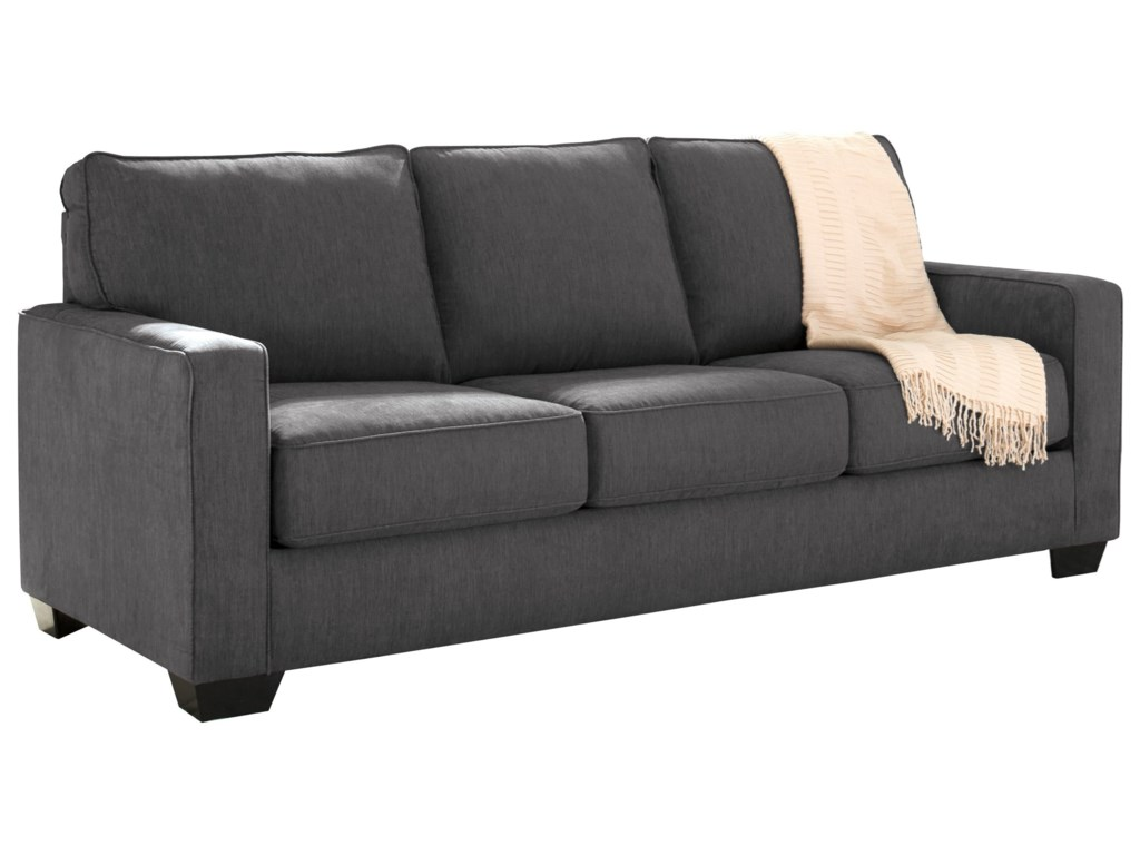 Zeb Queen Sofa Sleeper With Memory Foam Mattress By Signature Design Ashley At Pilgrim Furniture City