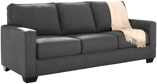Signature Design by Ashley Zeb Queen Sofa Sleeper with Memory Foam Mattress