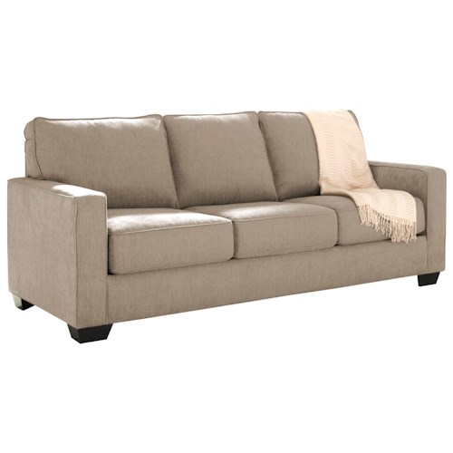 Signature Design by Ashley Zeb Queen Sofa Sleeper with Memory Foam Mattress - Signature Design By Ashley Zeb Queen Sofa Sleeper With Memory Foam