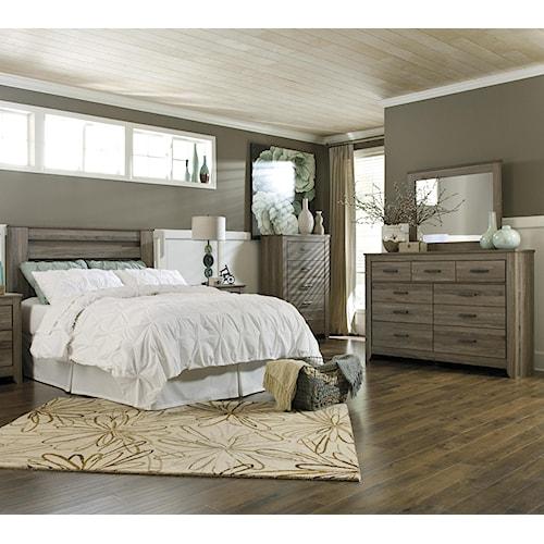 Signature Design By Ashley Zelen 4 Piece Queen Bedroom Group Pilgrim Furniture City Bedroom