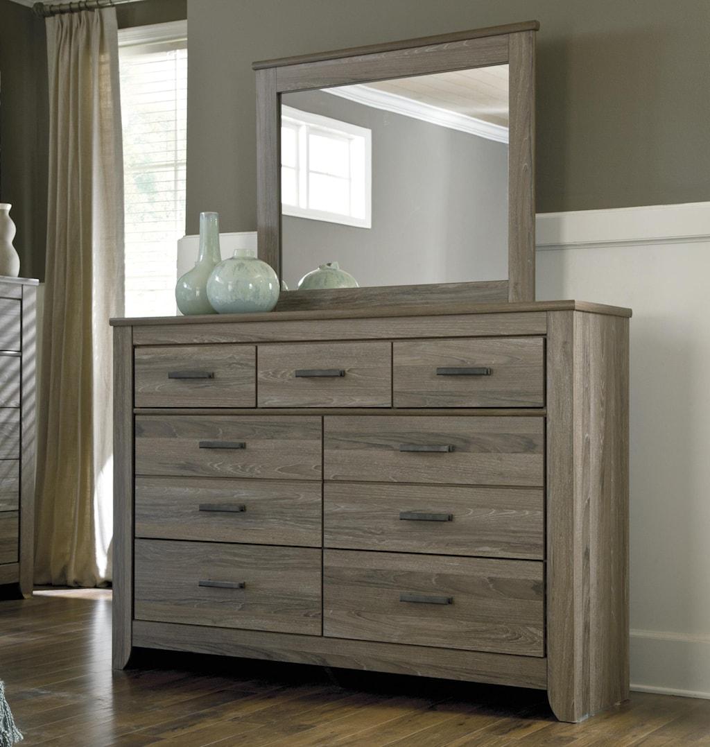 Signature Design By Ashley Zelen Rustic Tall Dresser Bedroom