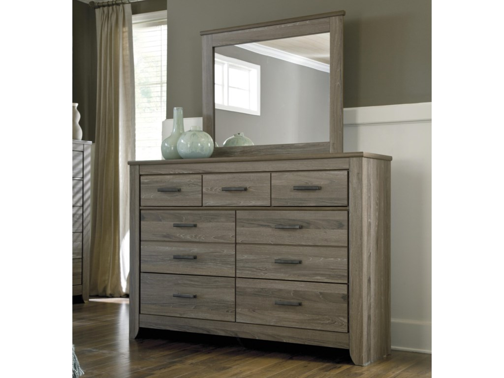 Signature Design By Ashley Zelen Rustic Tall Dresser Bedroom