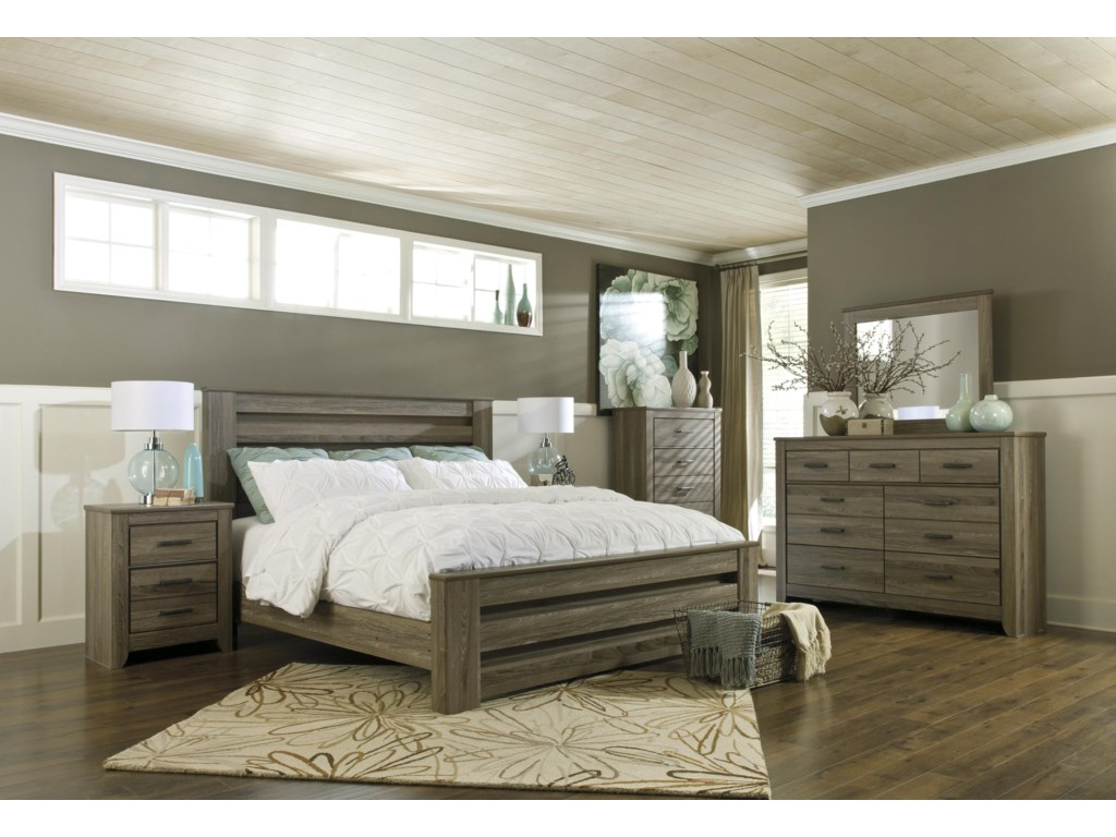 Ashley (Signature Design) ZelenKing Panel Bed