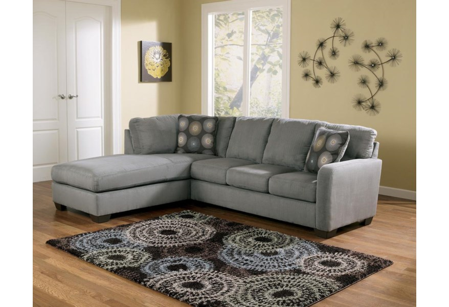 Zella - Charcoal Sectional Sofa with Left Arm Facing Chaise