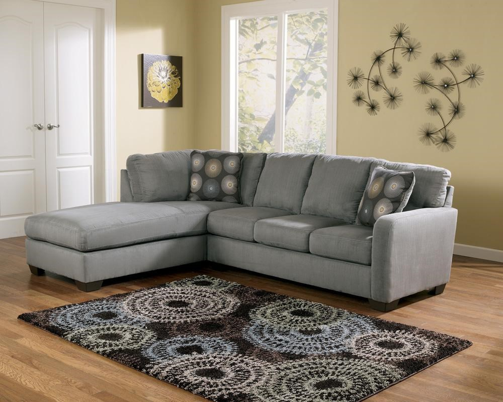 Beau Signature Design By Ashley Zella   Charcoal Contemporary Sectional Sofa  With Left Arm Facing Chaise
