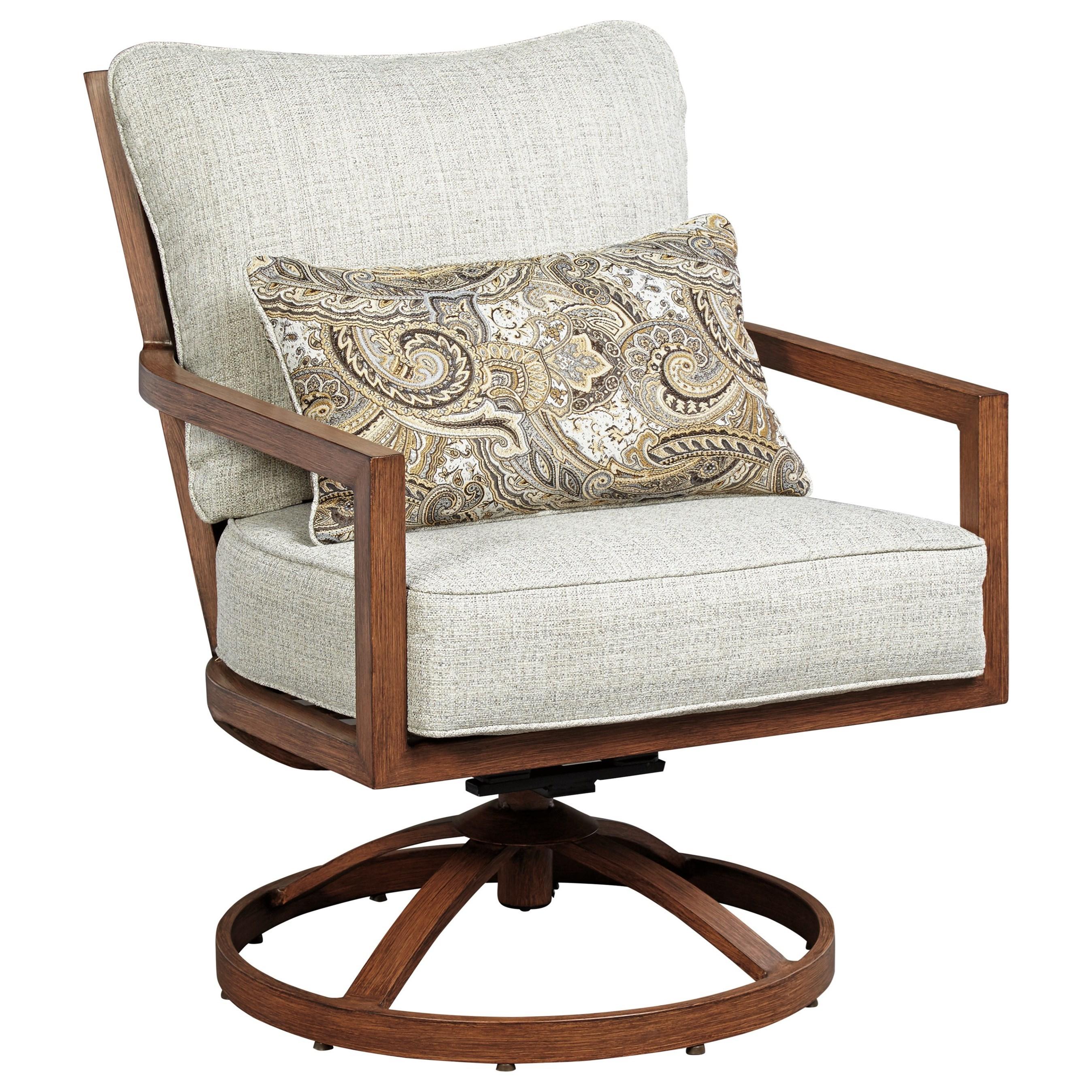 Signature Design By Ashley ZoranneSet Of 2 Swivel Lounge Chairs ...