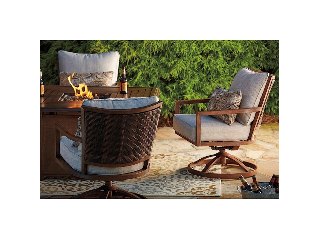 Signature Design by Ashley ZoranneSet of 2 Swivel Lounge Chairs