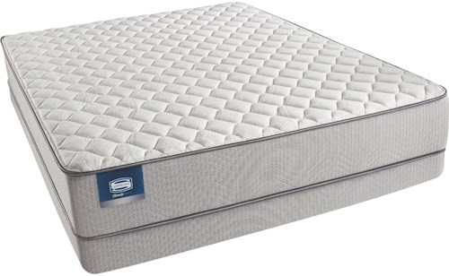 Simmons Beautysleep Caitlyn Full Firm Mattress and Triton Lite Low Profile Foundation