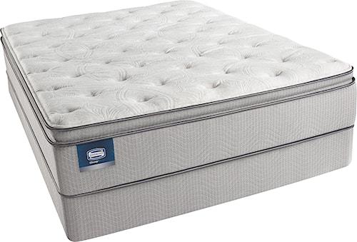 Simmons Beautysleep Erica Full Plush Pillow Top Mattress and Triton-Lite Regular Profile Foundation