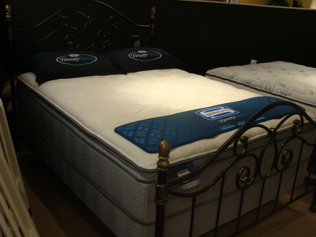 Simmons Adriatic SeaFull Plush Pillow Top Mattress Set