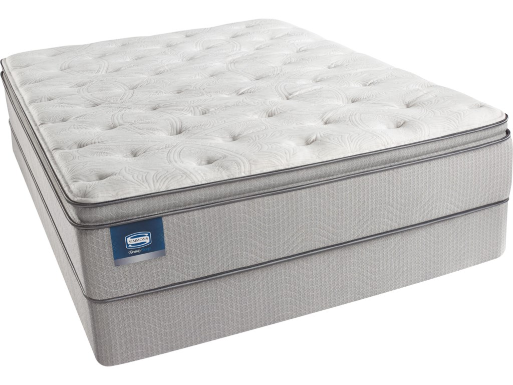 Simmons Adriatic SeaTwin Plush Pillow Top Mattress Set