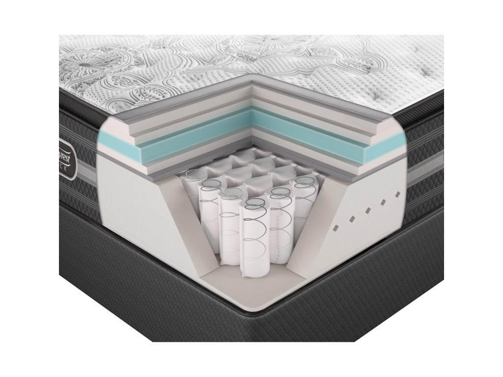 Beautyrest BR Black KatarinaSplit King Plush P.T. Mattress Set, Adj