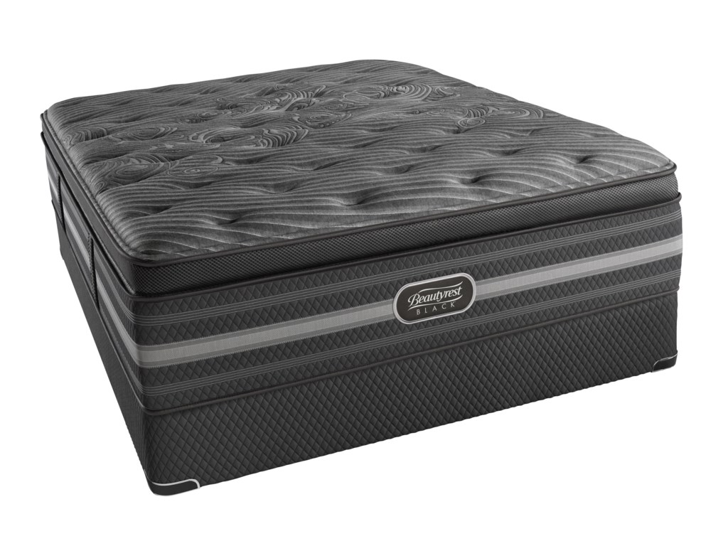 Simmons Beautyrest Black NatashaQueen Luxury Firm P.T. Mattress Set, HP