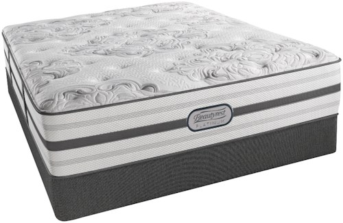 Beautyrest Platinum Brittany King Luxury Firm Mattress and Low Profile Foundation
