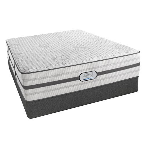 Beautyrest Platinum Austin Queen Luxury Firm Mattress and Low Profile Foundation
