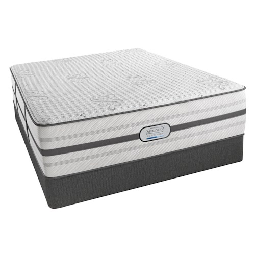 Beautyrest Platinum Hybrid Bryson Twin XL Plush Mattress and Low Profile Foundation
