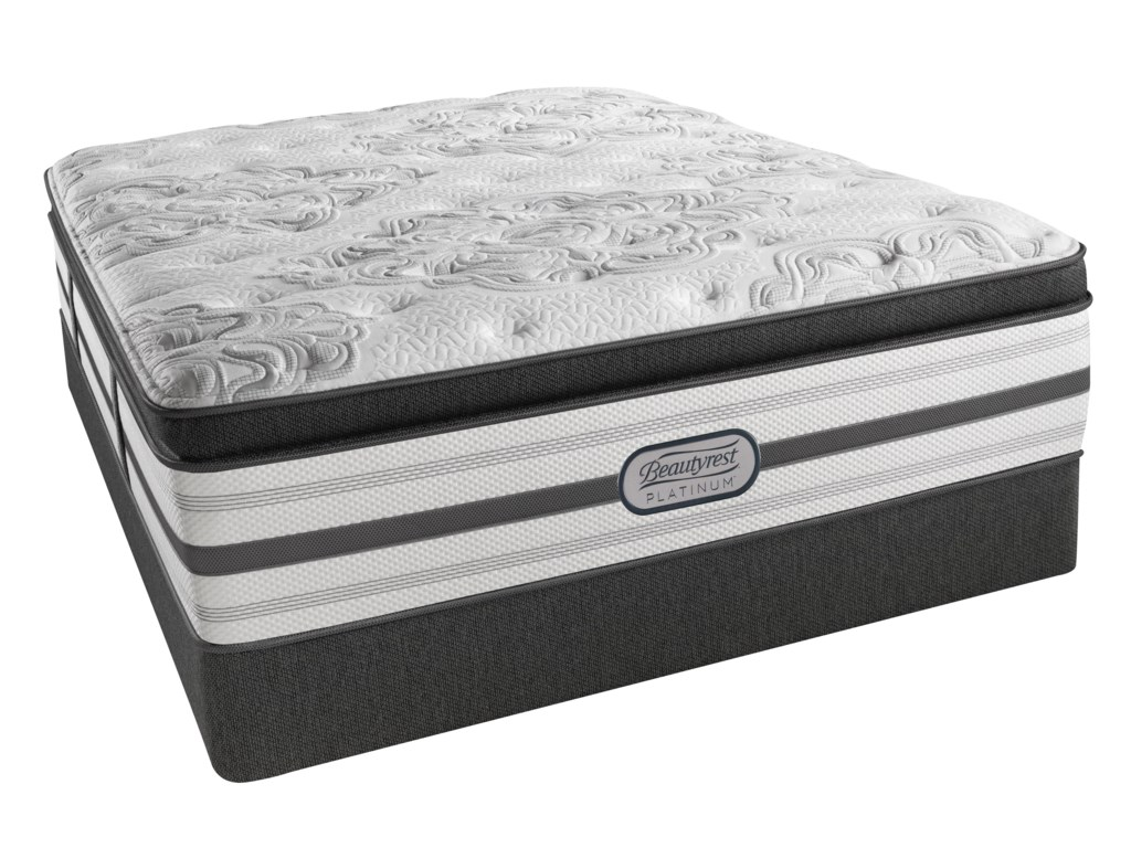 Beautyrest Platinum KatherineFull Plush Box Top Low Profile Set
