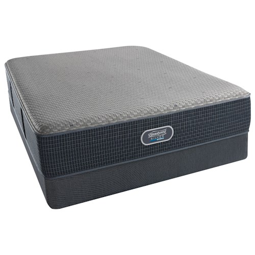 Beautyrest Silver Hybrid Austin Reef Plush Full Mattress and Platinum Regular Foundation