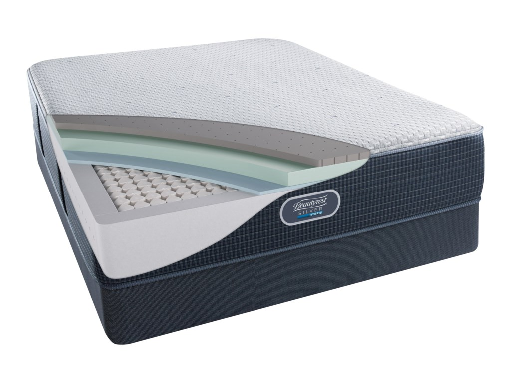 Beautyrest Silver Hybrid Austin Reef PlushBeautyrest Silver Twin Low Profile Set