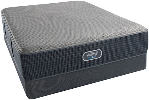 Beautyrest Silver Hybrid Cascade Mist Firm Twin Mattress and Low Profile Triton Foundation