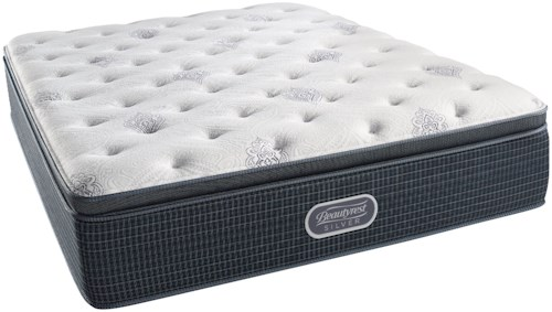 Beautyrest Silver Open Seas Plush Pillow Top Twin XL Mattress and SmartMotion™ 3.0 Adjustable Base